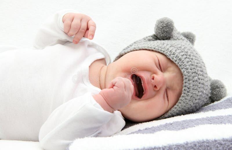 Het schreeuwen van de baby royalty-vrije stock afbeelding