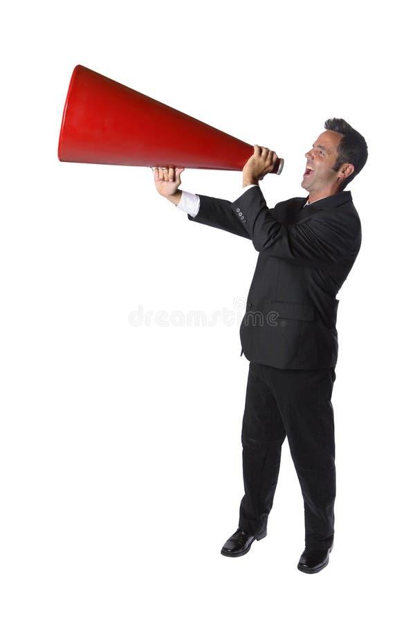 Het schreeuwen van de zakenman stock foto's