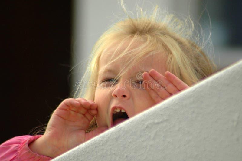 Het schreeuwen van het meisje royalty-vrije stock foto
