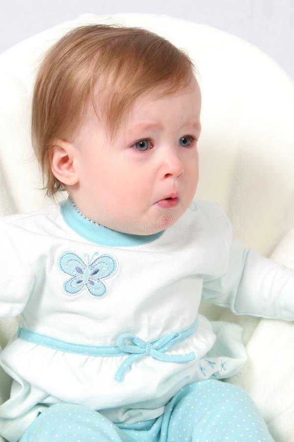Het Schreeuwen van het Meisje van de baby royalty-vrije stock afbeelding