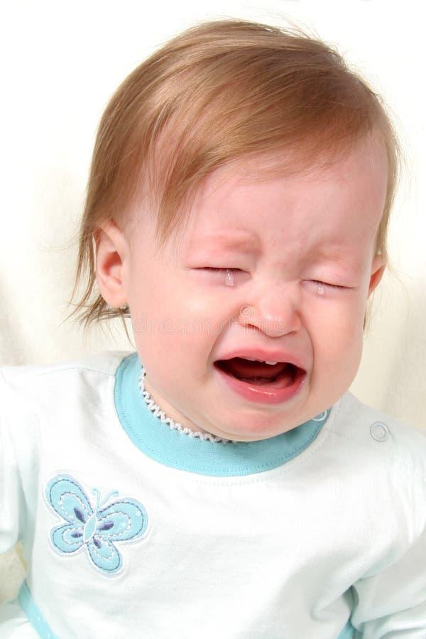 Het Schreeuwen van het Meisje van de baby stock foto's