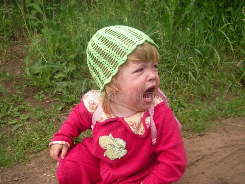 Het schreeuwende kind royalty-vrije stock afbeelding
