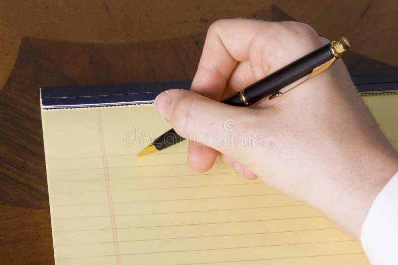 Het schrijven stock foto
