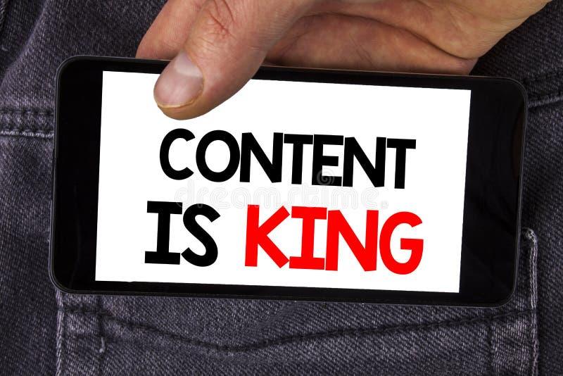 Het schrijven de nota die Inhoud tonen is Koning De de bedrijfsfoto demonstratieartikelen of posten kunnen u succes waarborgen Ad stock foto's