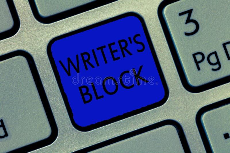 Het schrijven de nota die Schrijver s tonen is Blok Bedrijfsfoto demonstratievoorwaarde om niet te kunnen aan wat denken om te sc vector illustratie