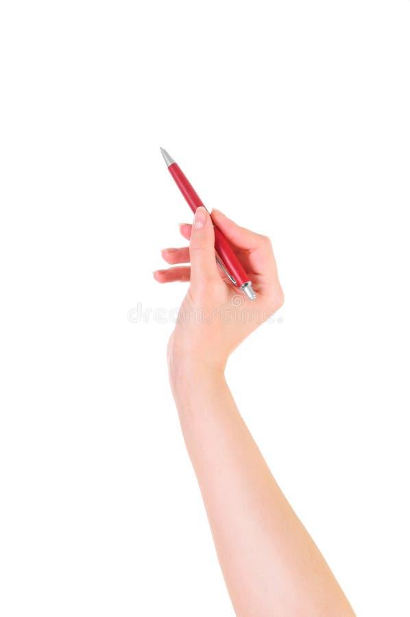 Het schrijven door pen stock foto's