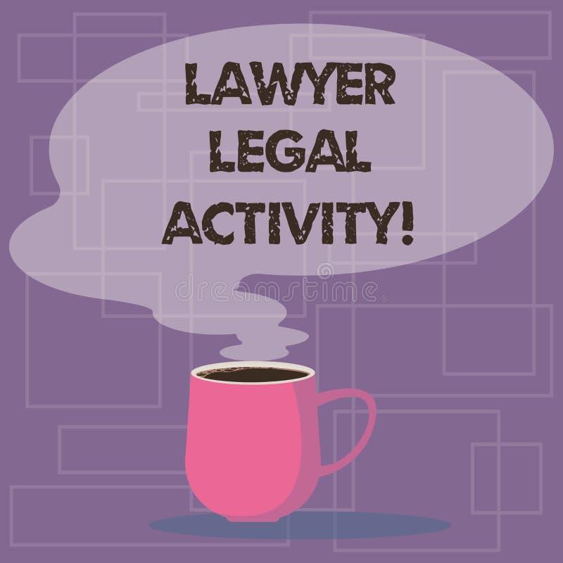 Het schrijven nota die Advocaat Legal Activity tonen De bedrijfsfoto demonstratie bereidt gevallen voor en geeft advies op wettel royalty-vrije illustratie