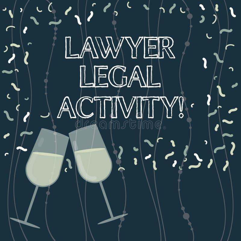 Het schrijven nota die Advocaat Legal Activity tonen De bedrijfsfoto demonstratie bereidt gevallen voor en geeft advies over wett vector illustratie