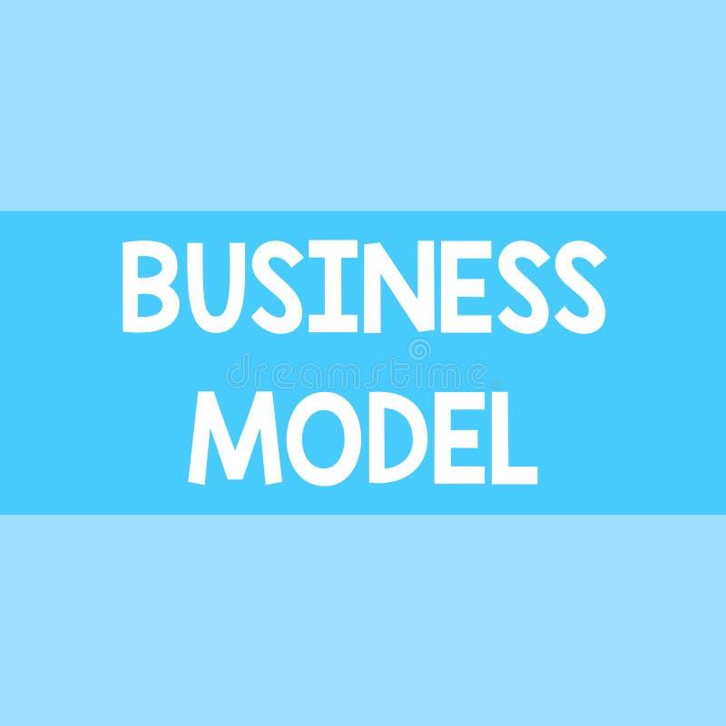 Het schrijven nota die Bedrijfsmodel tonen Bedrijfsfoto die Identificeert opbrengst bronplan op hoe te om winst te maken demonstr vector illustratie
