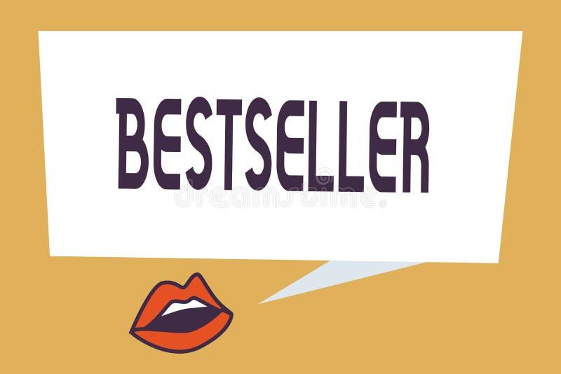 Het schrijven nota die Best-seller tonen Het product van het bedrijfsdiefoto demonstratieboek in grote aantallen Succesvolle lite stock illustratie