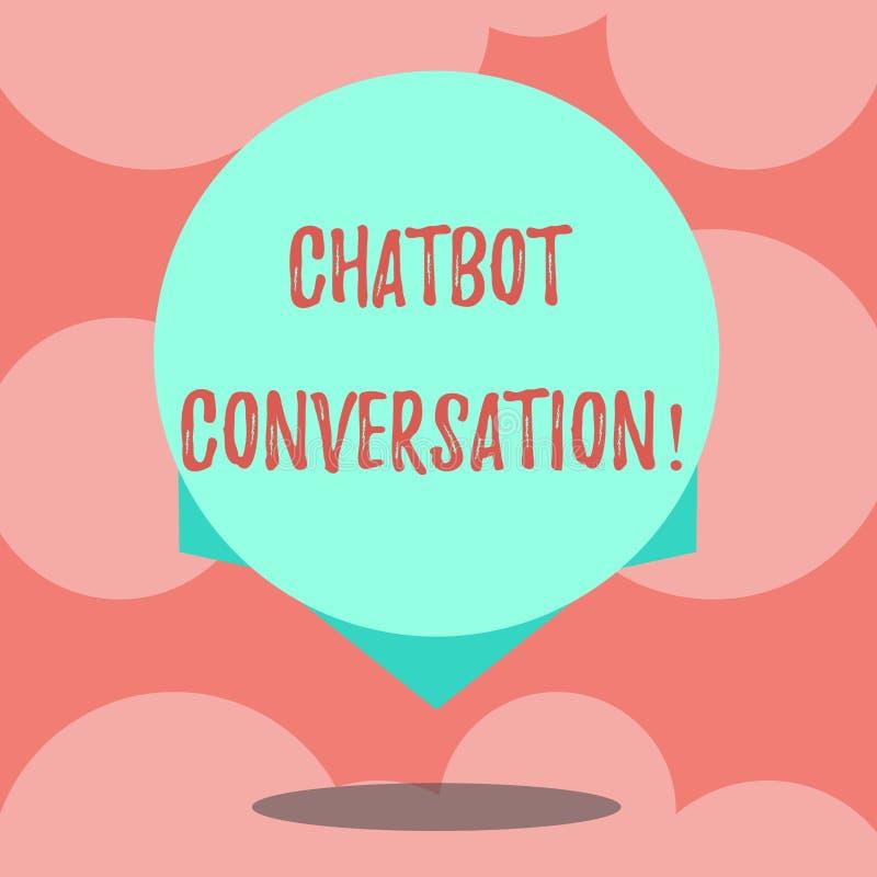Het schrijven nota die Chatbot-Gesprek tonen Bedrijfsfoto demonstratie die met virtuele hulpkunstmatige intelligentiespatie babbe royalty-vrije illustratie