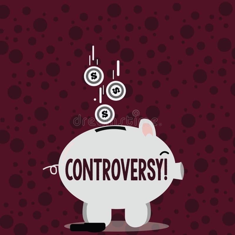 Het schrijven nota die Controverse tonen Bedrijfsfoto demonstratiemeningsverschil of Argument over iets belangrijk aan royalty-vrije illustratie