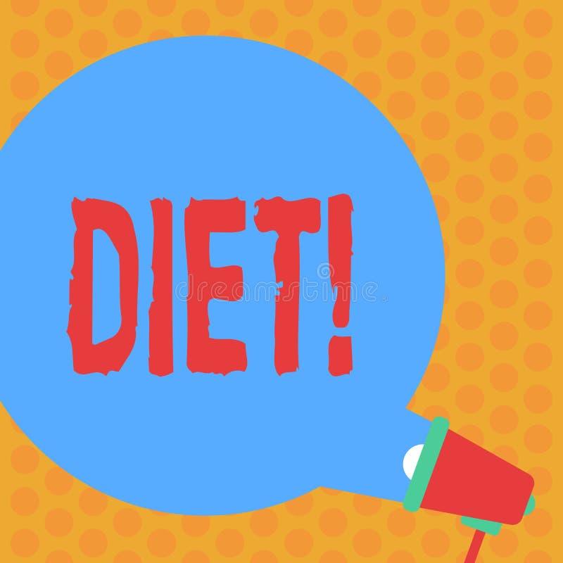 Het schrijven nota die Dieet tonen De bedrijfsfoto demonstrerende Diëtisten creëren maaltijdplannen om het gezonde rond eten goed stock illustratie
