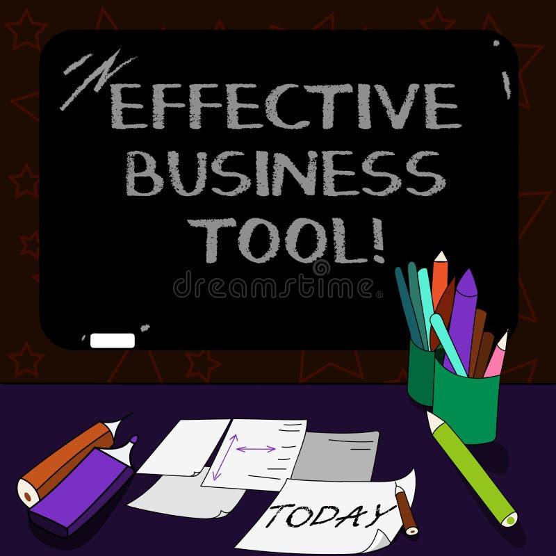 Het schrijven nota die Efficiënt Zakelijk hulpmiddel tonen Bedrijfsfoto demonstratie gebruikt om bedrijfsprocessen te controleren vector illustratie