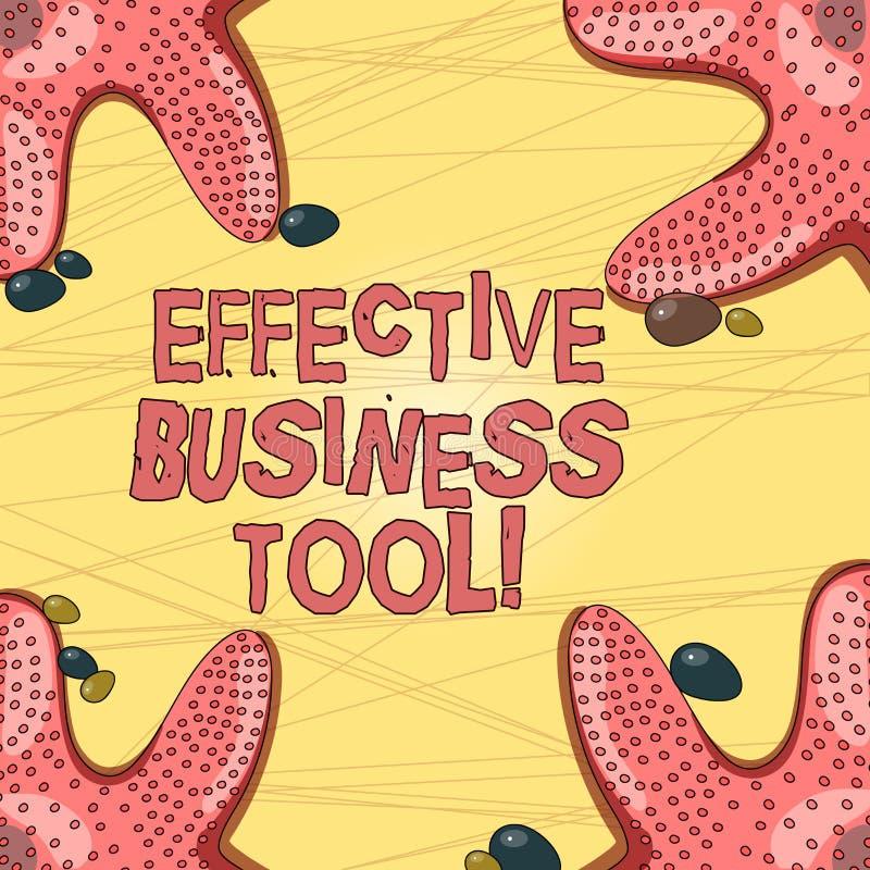 Het schrijven nota die Efficiënt Zakelijk hulpmiddel tonen Bedrijfsfoto demonstratie gebruikt om bedrijfsprocessenzeester te cont royalty-vrije illustratie