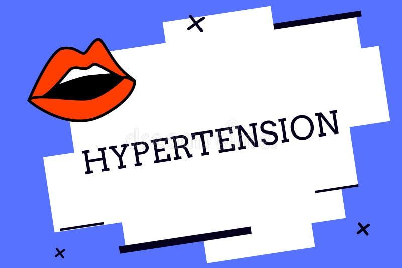 Het schrijven nota die Hypertensie tonen Bedrijfsfoto die Medische voorwaarde demonstreren waarin de bloeddruk uiterst hoog is vector illustratie