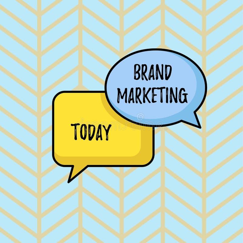 Het schrijven nota die Merk Marketing tonen Bedrijfsfoto die Creërend voorlichting over producten rond het wereldpaar demonstrere vector illustratie