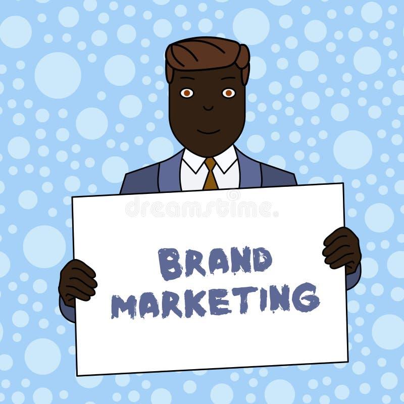 Het schrijven nota die Merk Marketing tonen Bedrijfsfoto die Cre?rend voorlichting over producten rond de wereld demonstreren vector illustratie
