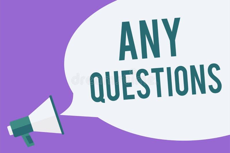 Het schrijven nota die Om het even welke Vragen tonen De bedrijfsfoto die Clueless Lege Kwesties van de Geschillensondes van het  vector illustratie