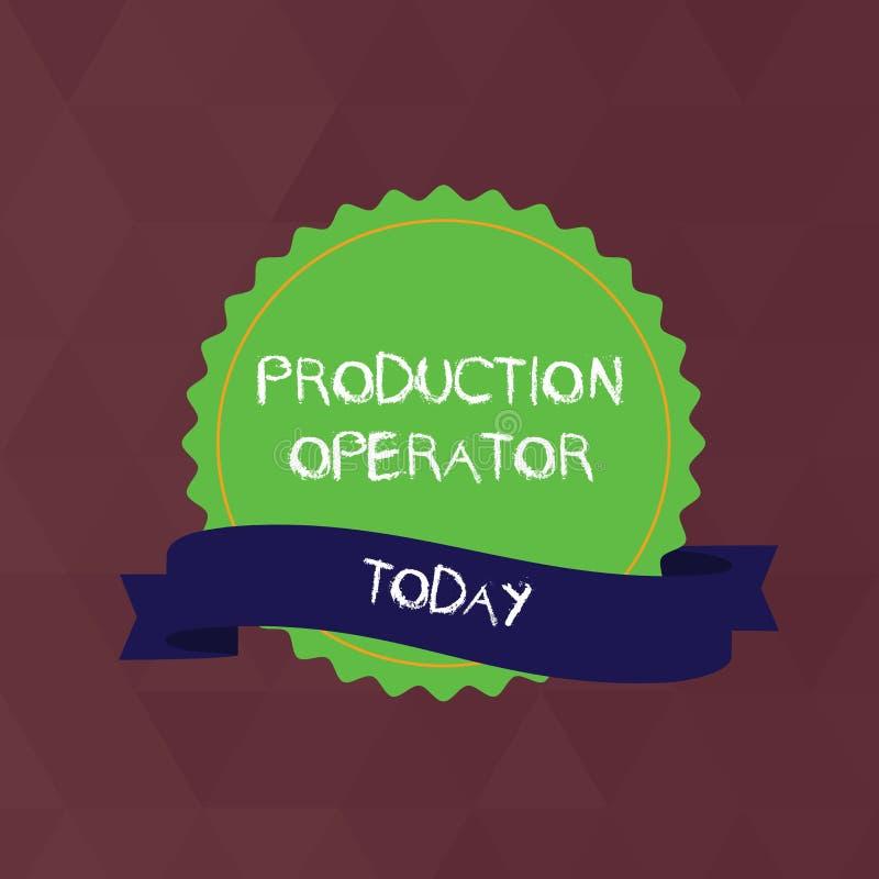 Het schrijven nota die Productieexploitant tonen Het materiaal van de bedrijfsdiefoto demonstratiecontrole in het analysisufactur vector illustratie