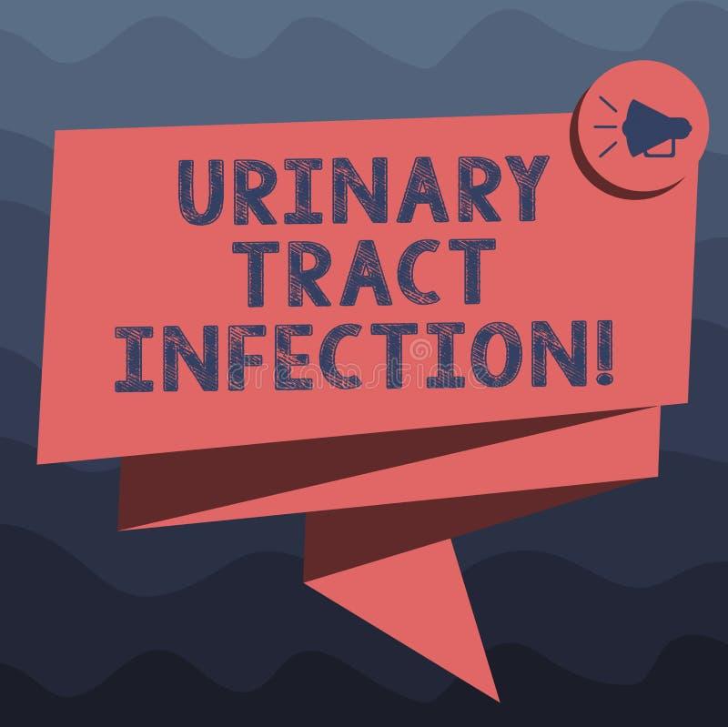 Het schrijven nota die Urinelandstreekbesmetting tonen De bedrijfsfoto die een besmetting in om het even welk deel van het urines vector illustratie