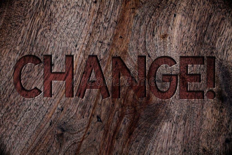 Het schrijven nota die Veranderingsvraag tonen Van de de Aanpassingsafleidingsactie van de bedrijfsfoto demonstratiewijziging van royalty-vrije stock afbeeldingen