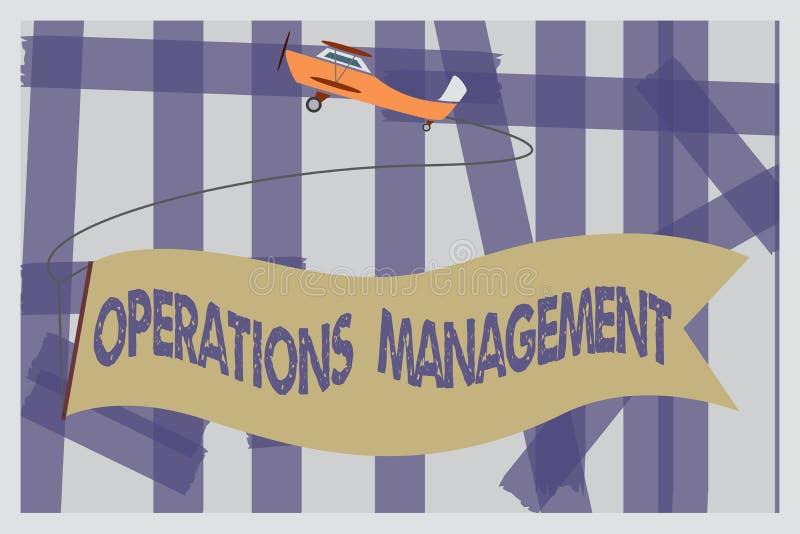 Het schrijven nota die Verrichtingenbeheer tonen De bedrijfsfoto demonstratie verzekert Input aan Output de Productie en de Voorz royalty-vrije illustratie