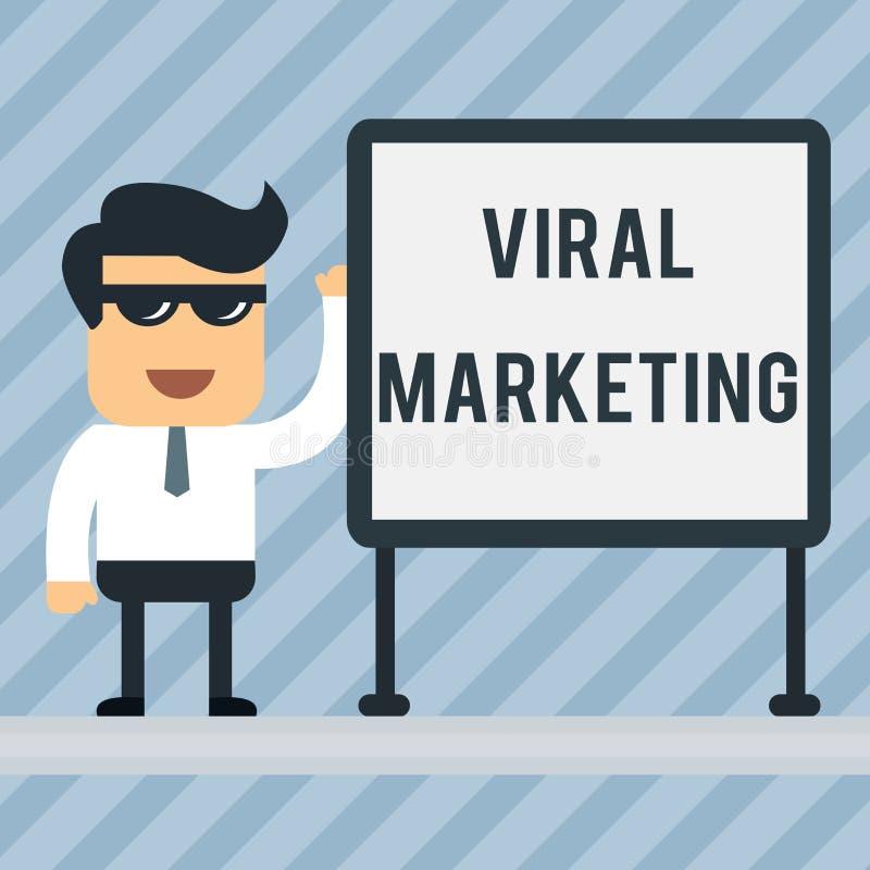 Het schrijven nota die Virale Marketing tonen Bedrijfsfoto die waardoor de consument aandeelinformatie via aanmoedigde demonstrer royalty-vrije illustratie