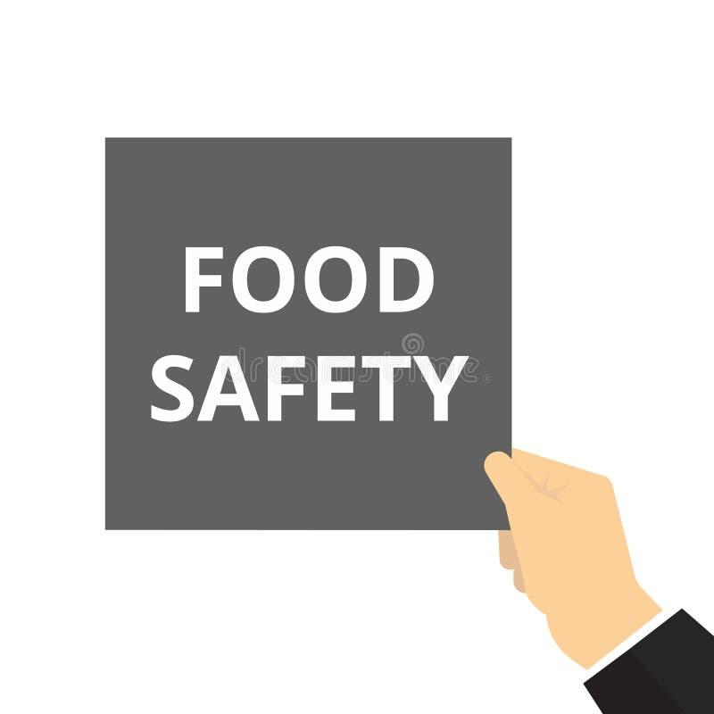 Het schrijven nota die Voedselveiligheid tonen royalty-vrije illustratie