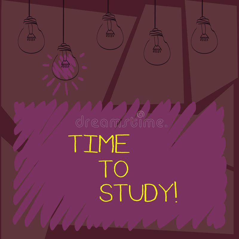 Het schrijven nota showingTime aan Studie De bedrijfsfoto demonstratieexamens vergen vooruit concentraat in studies leren de les royalty-vrije illustratie