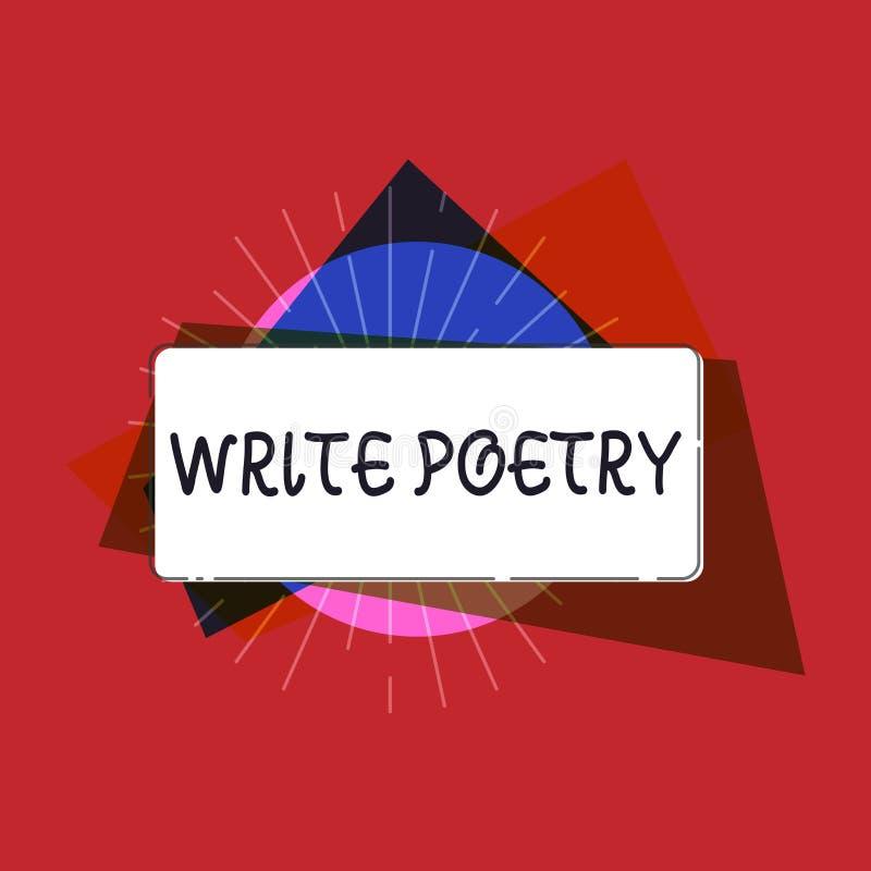 Het schrijven nota het tonen schrijft Poëzie Bedrijfsfoto demonstratie het Schrijven literatuur roanalysistic melancholische idee stock illustratie