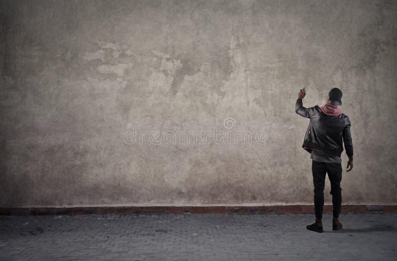 Het schrijven op de Muur stock foto