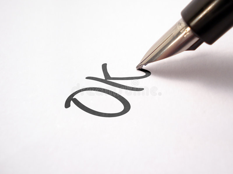 Het schrijven van de pen   royalty-vrije stock foto