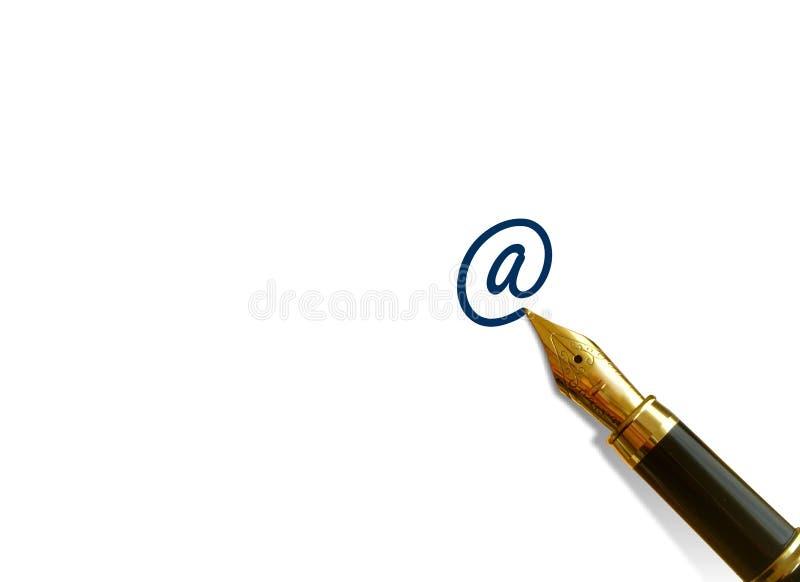 Het schrijven van een E-mail stock fotografie