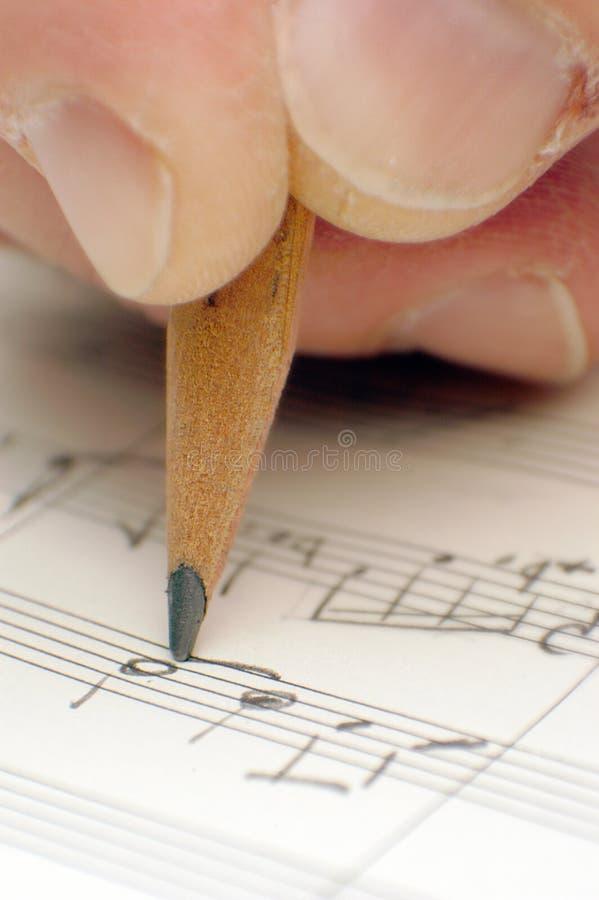 Het schrijven van een lied royalty-vrije stock foto's