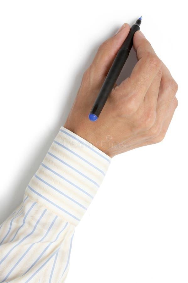 Het schrijven van hand 2 royalty-vrije stock fotografie