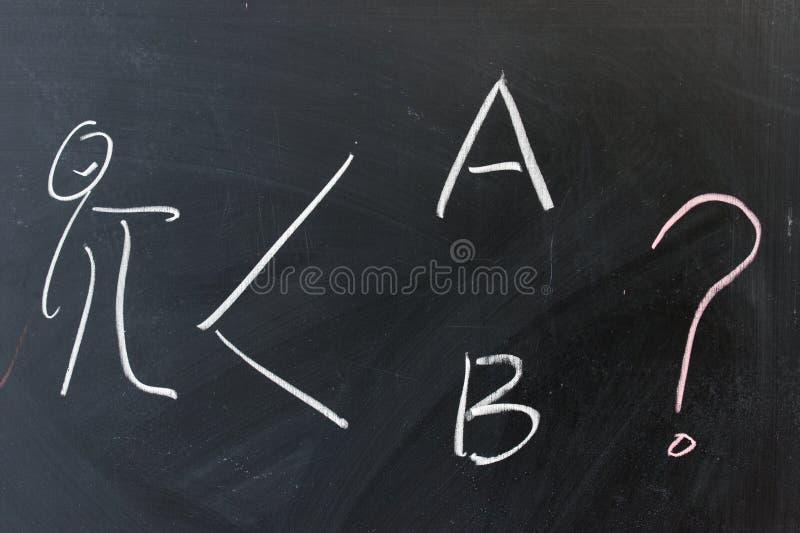 Het schrijven van het bord - Twee opties stock afbeeldingen