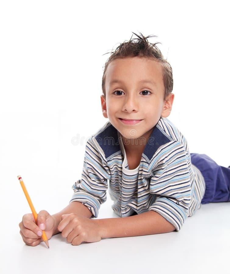Het schrijven van het kind royalty-vrije stock foto's