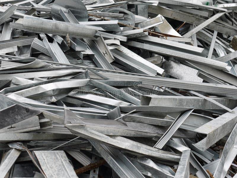 Het schroot van het metaal stock afbeelding