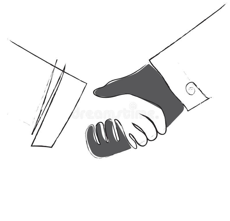 Het schuddende ontwerp van de de kunstlijn van het stootkar vectorbeeldverhaal, Succes bedrijfsconcept vector illustratie