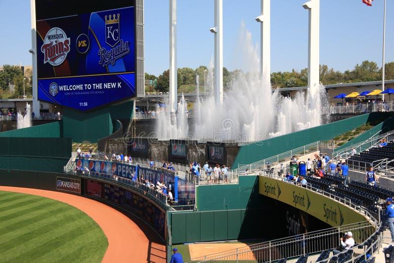 Het Scorebord van het Stadion van Kauffman - de Stad Royals van Kansas royalty-vrije stock fotografie