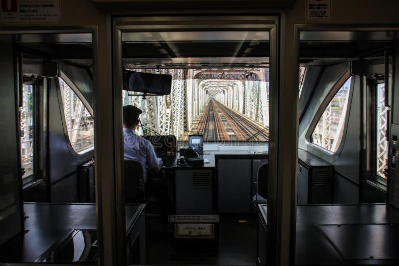 Het seethrough de metrosysteem van Osaka, Centraal Osaka, Nakanoshima-Eiland, Japan, stock foto