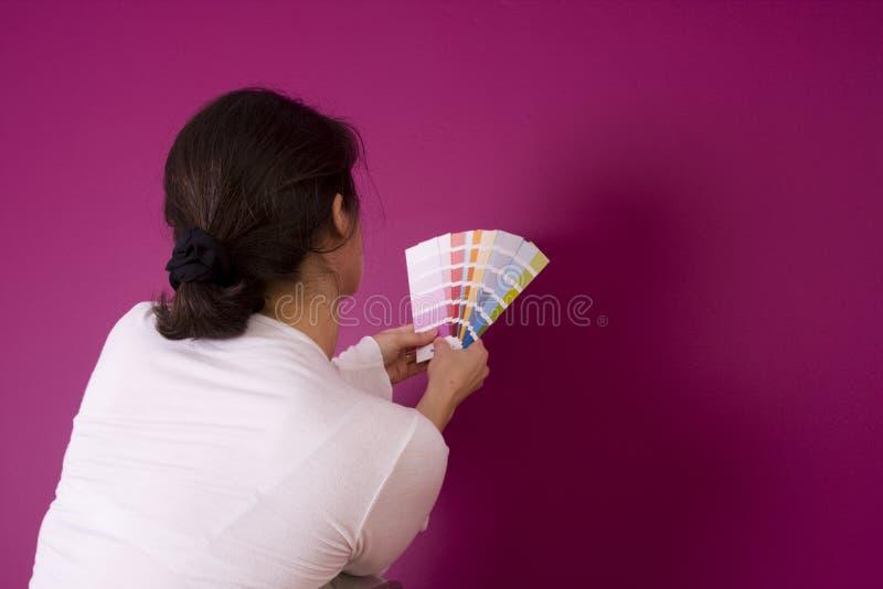Het selecteren van de kleur stock afbeelding