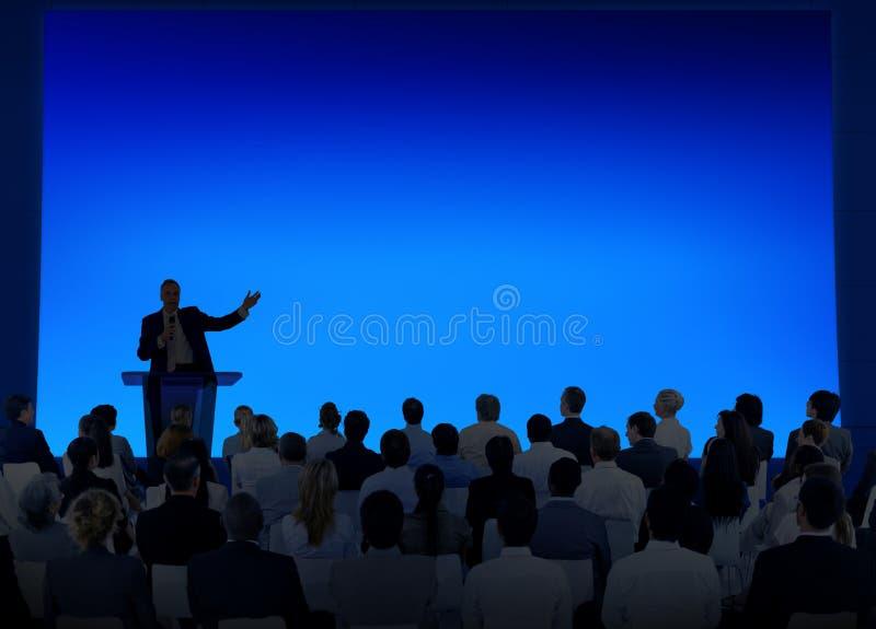 Het Seminarie Team Concept van de bedrijfsconferentievergadering stock foto's