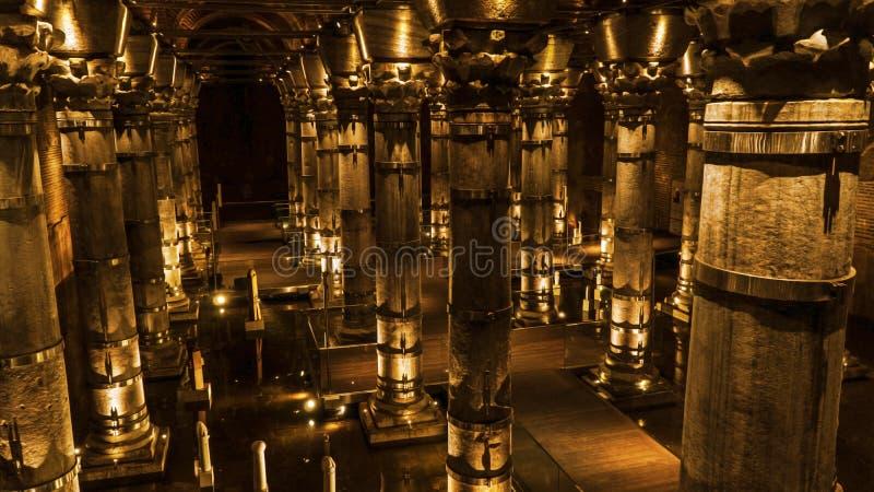 Het Serefiyereservoir was geconstrueerd door Byzantijnse Keizer royalty-vrije stock foto