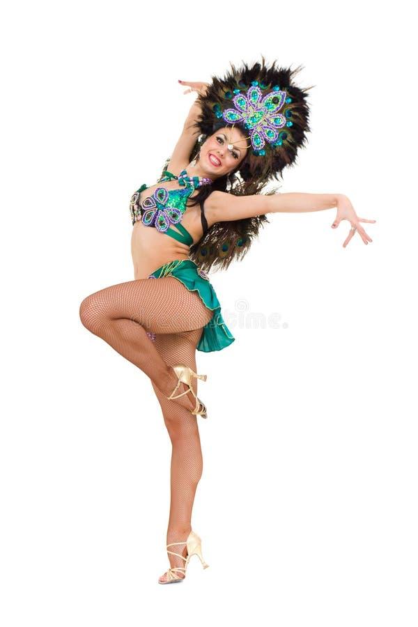 Het sexy Carnaval danser stellen stock afbeeldingen