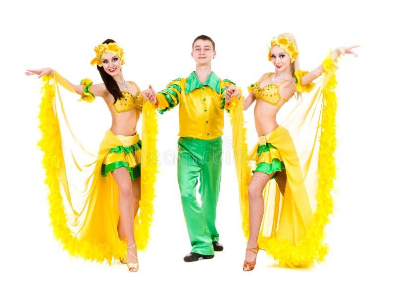 Het sexy Carnaval-dansers dansen royalty-vrije stock fotografie