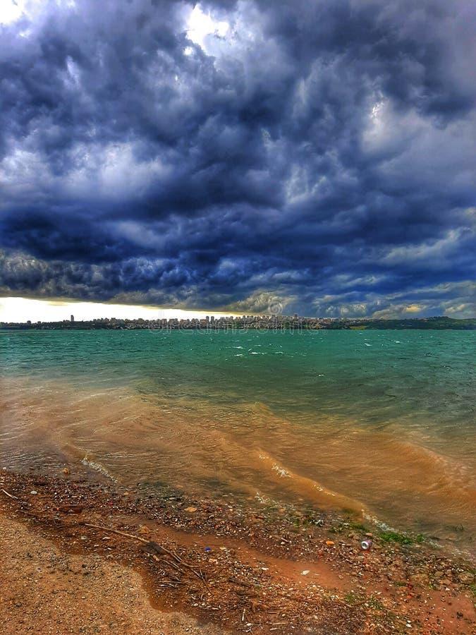 Het Seyhan-meer in Adana stock foto's