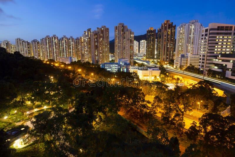 Het Shatin-district in Hong Kong op Jun 30, 2019 royalty-vrije stock foto