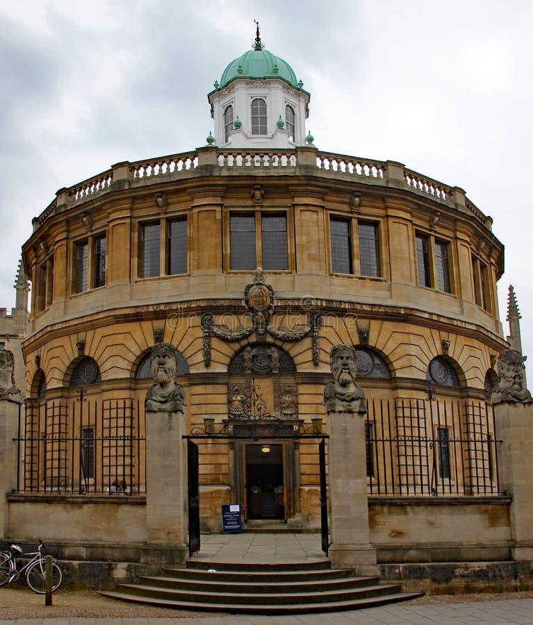Het Sheldonian-Theater in Oxford Gebouwd in 1669 aan een ontwerp door Sir Christopher Wren stock afbeeldingen